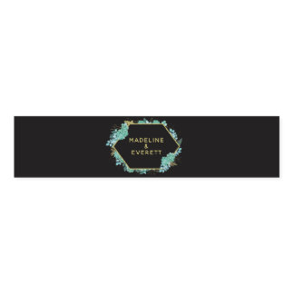 Succulents Gold Frame Any Color Wedding Monogram Napkin Band