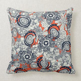 succulents orange indigo throw pillow