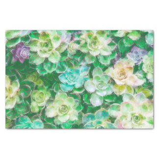 Succulents Painting by Cindy Bendel Tissue Paper
