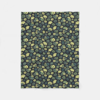 Succulents Pattern Fleece Blanket