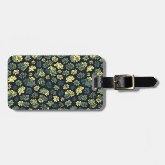 Succulents Pattern Luggage Tag