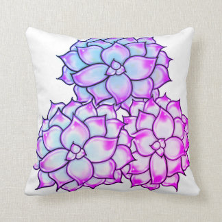 Succulents - pink and purple  hue cushion