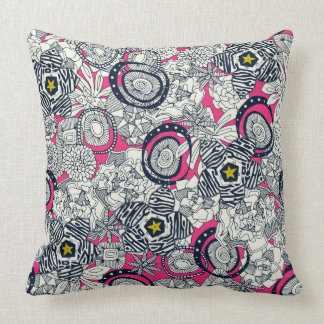 succulents pink chartreuse star throw pillow