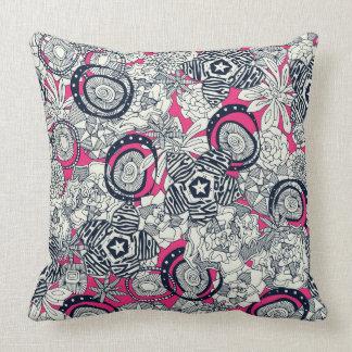 succulents pink indigo throw pillow