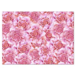 Succulents pink lavender floral tissue paper