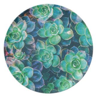 Succulents, Succulent, Cactus, Cacti, Green, Plant Party Plates