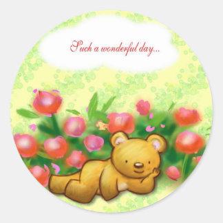 Such A Wonderful Day! Round Sticker