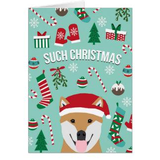 Such Christmas Doge Shiba Inu Christmas Card