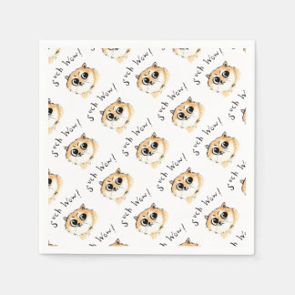 Such Wow! Doge Meme Paper Serviettes