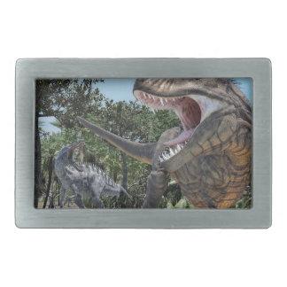 Suchomimus and Tyrannosaurus Rex Confrontation Belt Buckles