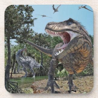 Suchomimus and Tyrannosaurus Rex Confrontation Coaster