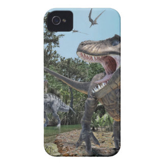 Suchomimus and Tyrannosaurus Rex Confrontation iPhone 4 Cover