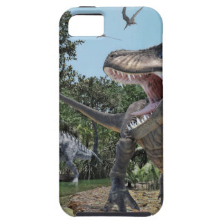 Suchomimus and Tyrannosaurus Rex Confrontation iPhone 5 Cover