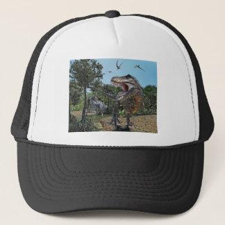 Suchomimus and Tyrannosaurus Rex Confrontation Trucker Hat