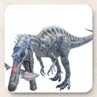 Suchomimus Dinosaur Eating a Shark Coaster