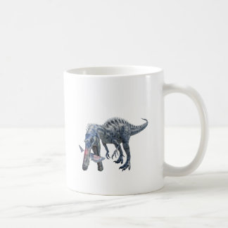 Suchomimus Dinosaur Eating a Shark Coffee Mug
