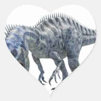 Suchomimus Dinosaur Eating a Shark Heart Sticker