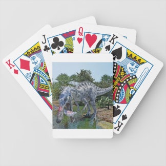 Suchomimus Dinosaur Eating a Shark in a Swamp Bicycle Playing Cards