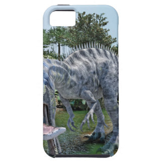 Suchomimus Dinosaur Eating a Shark in a Swamp Case For The iPhone 5