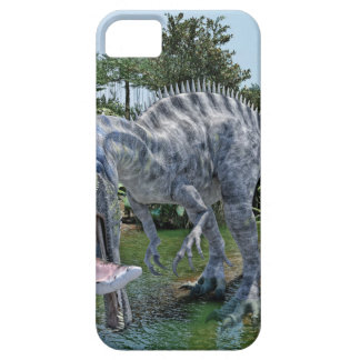 Suchomimus Dinosaur Eating a Shark in a Swamp iPhone 5 Cover