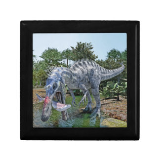 Suchomimus Dinosaur Eating a Shark in the Jungle Gift Box