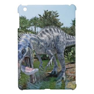 Suchomimus Dinosaur Eating a Shark in the Jungle iPad Mini Case