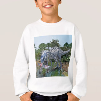 Suchomimus Dinosaur Eating a Shark in the Jungle Sweatshirt