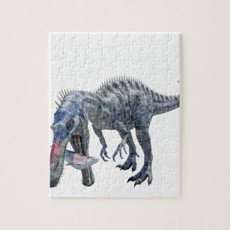 Suchomimus Dinosaur Eating a Shark Jigsaw Puzzle