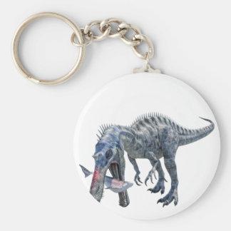 Suchomimus Dinosaur Eating a Shark Key Ring