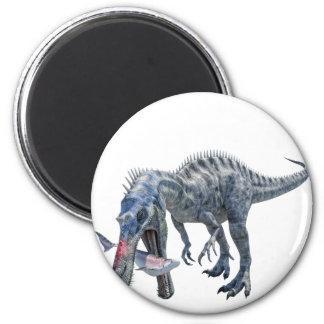 Suchomimus Dinosaur Eating a Shark Magnet
