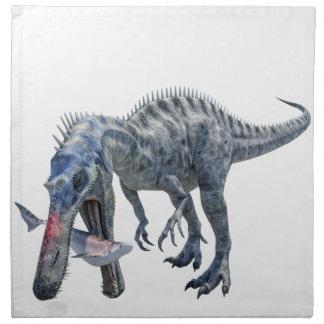 Suchomimus Dinosaur Eating a Shark Napkin
