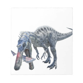 Suchomimus Dinosaur Eating a Shark Notepad