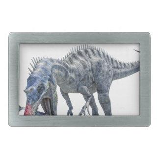 Suchomimus Dinosaur Eating a Shark Rectangular Belt Buckle