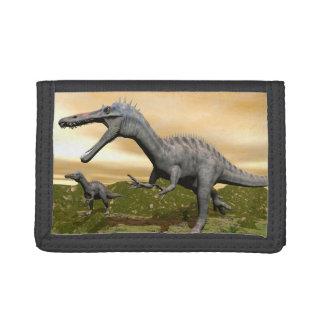Suchomimus dinosaurs - 3D render Tri-fold Wallet
