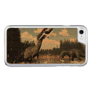Suchomimus dinosaurs fishing fish and shark carved iPhone 8/7 case