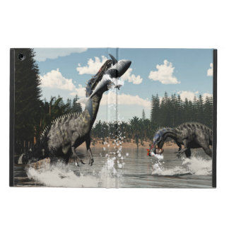 Suchomimus dinosaurs fishing fish and shark iPad air cover