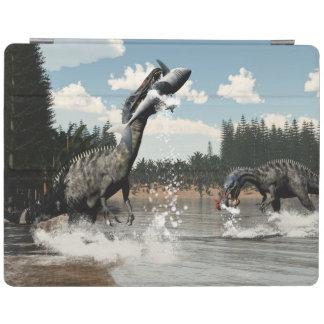Suchomimus dinosaurs fishing fish and shark iPad cover