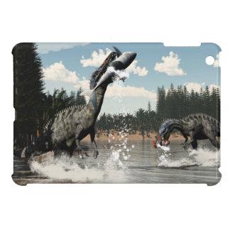 Suchomimus dinosaurs fishing fish and shark iPad mini covers