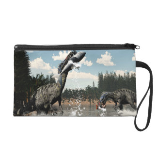Suchomimus dinosaurs fishing fish and shark wristlet