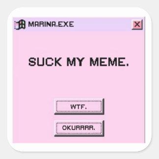 SUCK MY MEME - Square Stickers, Glossy Square Sticker