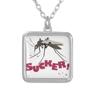 Sucker Silver Plated Necklace