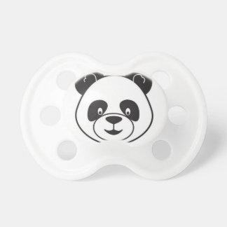 Sucks of black and white panda dummy