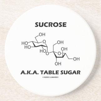 Sucrose Table Sugar Chemical Molecule Chemistry Drink Coasters