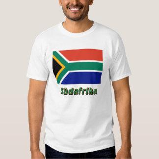 Südafrika Flagge mit Namen T-shirt