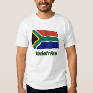 Südafrika Fliegende Flagge mit Namen Tees