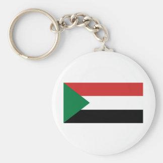 Sudan Basic Round Button Key Ring