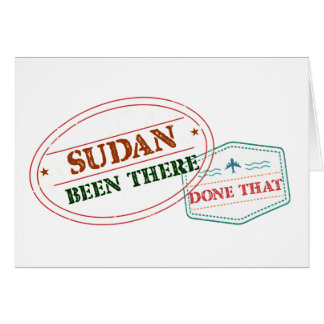 Sudan Been There Done That Card