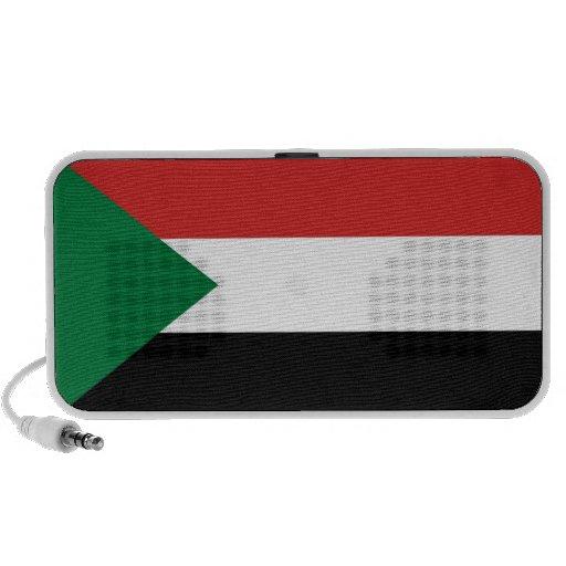 sudan country flag doodle speakers