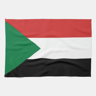 sudan country flag towel