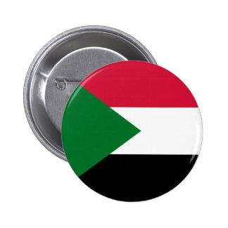 Sudan Flag 6 Cm Round Badge